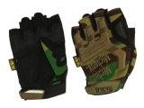 新式の半分指の黄色の黒の手袋