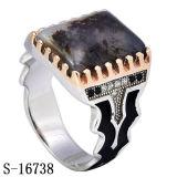 Manier 925 de Zilveren Ring van de Mens van de Steen van Yemen van de Ringen van de Mensen van CZ