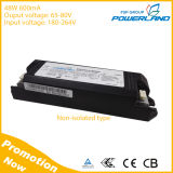 Excitador Non-Isolated do diodo emissor de luz da aprovaçã0 48W 600mA do TUV do Ce com saída 65-80V