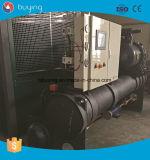 Refrigerador de agua doble refrigerado por agua del compresor del tornillo de 400 toneladas para la producción de la margarina