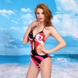 2016 het Nieuwe Kostuum de Reeksen Swimwear van Swimwear Beaching van de Bikini van de Kleur van de Bloem van de Aankomst Sexy van de Bikini van Twee Stukken