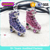 Moda Crystal Roller Skate Pendant Necklace Jewelry