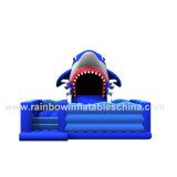 Diapositiva animosa inflable Funcity combinado del tema del tiburón