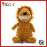 Os dentes grandes encheram o brinquedo enchido leão do leão do animal enchido dos leões