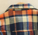 Chemise de coton du `S de femmes de plaid