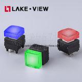 Commutateur de bouton poussoir lumineux silencieux avec des choix de couleurs multiples de DEL