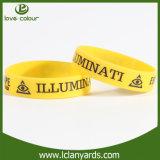 Manufactory su ordinazione del braccialetto del Wristband del silicone dell'omaggio all'ingrosso