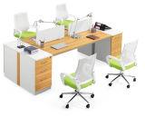 方法新しいデザインキャビネットが付いている木のオフィスのキュービクル