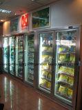 Vetro Tempered con il frigorifero della visualizzazione del supermercato di funzione del Demist