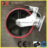 Industrielles Fußrollen-Rad mit Bremse und Platte für Baugerüst