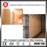 laminado compacto de 8m m para el revestimiento de la pared
