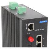 Interruptor industrial com Ethernet 7 rápido 1 fibra óptica e 2 gigabits SFP