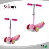소형 아이 PVC/PU 3 바퀴 Foldable 걷어차기 스쿠터 (SZKS006)