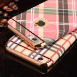 Caja del teléfono celular que electrochapa la caja dura cristalina de Chrom para el iPhone 7 6 4.7 más