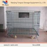 熱い販売の倉庫の金属の折る記憶の金網のケージの容器
