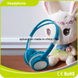 方法青い子供のヘッドホーンの子供のヘッドホーン