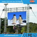 生きている提示のための屋外の使用料P3.91 LEDのフラットスクリーンTV