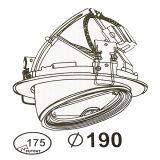 Vertiefte 40W Epistar PFEILER LED Schwenker-System-Bildschirmanzeige Downlight des Kardanring-Licht-LED mit Bedeuten-Gut Fahrer