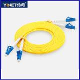 LC à 9/125 simple/duplex de LC de fibre optique de connexion mode unitaire du câble 3.0mm LSZH