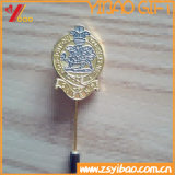 Pin отворотом иглы изготовленный на заказ формы цветка высокого качества длинний