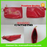 Sacchetto cosmetico di mini della signora PU del cuoio genuino trucco di corsa con la chiusura lampo ed il marchio