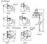 Uqk à montage latéral Magneticfloat Commutateur de niveau