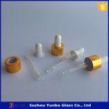 30ml cancelam o frasco de vidro de petróleo essencial com o conta-gotas dourado ou de prata do tampão do metal