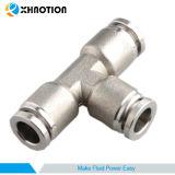 Olie van de Drank van de Stoom van de Lucht van het Reductiemiddel van het T-stuk van de Unie van de Montage van het Roestvrij staal van XHnotion de vacuüm