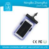Caisse imperméable à l'eau de téléphone de sac de poche d'épreuve de l'eau de PVC