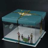 Boîte en plastique de gâteau d'anniversaire de grand dos de cadre de boulangerie de 6/8/10 pouce