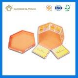 Rectángulo de papel rígido del hexágono de encargo superior de la alta calidad (con la tapa)