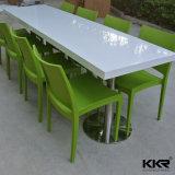 イタリアのレストランの家具の人工的な大理石のダイニングテーブル