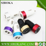 De het best In het groot Kleurrijke Mobiele Lader van de Auto USB van de Batterij Mini Dubbele