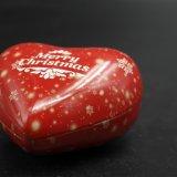 Коробка олова подарка сердца форменный для упаковки Keepsake/ювелирных изделий (H001-V5)