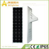 100W 25 ans de temps de vie tout de panneau solaire dans un à l'extérieur réverbère solaire de la lumière de porte DEL