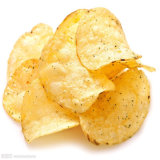 Pommes chips fraîches frites commerciales faisant la machine