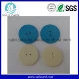 カスタマイズされた印刷防水RFID洗濯できるPPSボタンの洗濯の札