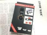 Lentille chaude 3 de téléphone mobile de vente dans 1 lentille de Marco de lentille grande-angulaire de lentille de Fisheye pour le smartphone de téléphone mobile