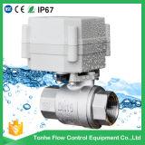 Válvula de esfera operada motor NSF61 aprovado da água do aço inoxidável de 2 maneiras