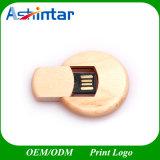 교차하는 둥근 나무로 되는 USB 섬광 드라이브 회전대 USB 지팡이