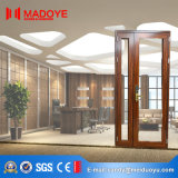 Porte en verre de bureau de bâti en aluminium faite à Foshan