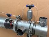 válvula sanitária de Mixproof do aço inoxidável de 25.4mm com a válvula de solenóide da cabeça de controle SMC