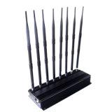 De krachtige 2g 3G GPS UHFVHF Lojack van Cellphone WiFi Stoorzender van het Signaal met Regelbare Knopen