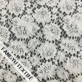 Tela de nylon do laço do algodão grande bonito da flor