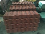 Telha revestida revestida de telha de telhado da pedra da chapa de aço do telhado/telhado da pedra