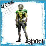 L'uniforme scolastico variopinto all'ingrosso della Jersey di calcio in bianco delle uniformi di football americano progetta buon per il cliente sublimato