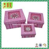 Boîte-cadeau estampée polychrome de papier de carton
