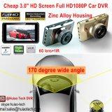 """Volles HD1080p Auto DVR des heißer Verkauf 3.0 """" HD Bildschirm-im Gedankenstrich versteckten Auto-Flugschreiber aufgebaut 6g im Objektiv, Winkel der Ansicht-170degree, WDR, Bewegung Dectection, Auto-Kamerarecorder DVR-3014"""