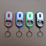 2 en 1 ouvre-bouteille multifonctionnel LED Key Lighting Locator Chain Keychain Light Flashlight Acrylic Bottle Opener Light