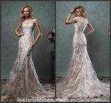 O tampão nu dos vestidos nupciais Sleeves o vestido de casamento SA201791 do laço